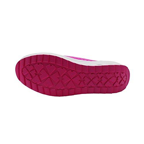 Schlüpfen ailishabroy Platform Sie Sommer Laufschuhe Floral auf Damen Hollow Atmungsaktive Rosa Loafers Wedge q1Irw1p