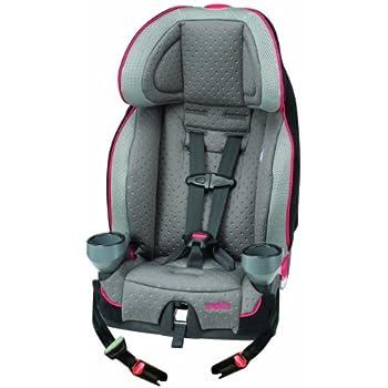 evenflo securekid lx harnessed booster car seat kohl grey black red baby. Black Bedroom Furniture Sets. Home Design Ideas