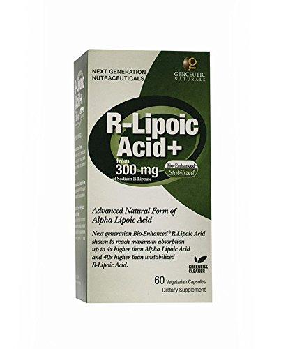 Genceutic Naturals R-Lipoic Acid 300 Mg, 60-Count