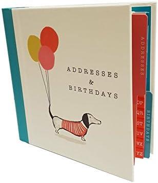 The Artfile Adressbuch / Geburtstagsbuch, Dackelmotiv (evtl. nicht in deutscher Sprache)