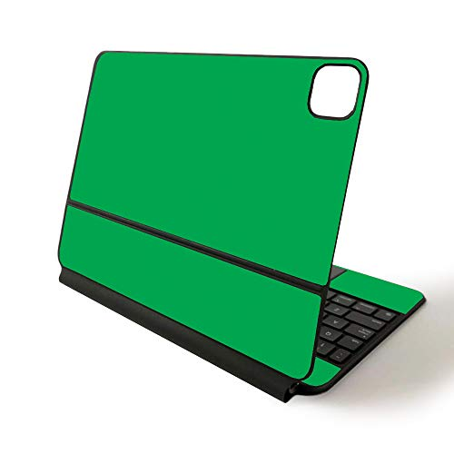 MightySkins Skin for Apple Magic Keyboard for iPad Pro 11-inch (2020) - Sushi | Protective, Durable, and Unique Vinyl Decal wrap Cover, Solid Green (APIPSK1120-Solid Green)