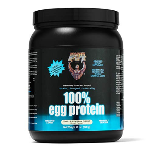 (Healthy 'n Fit 100% Egg Protein 12 -Ounce Bottle Vanilla,  Tub)