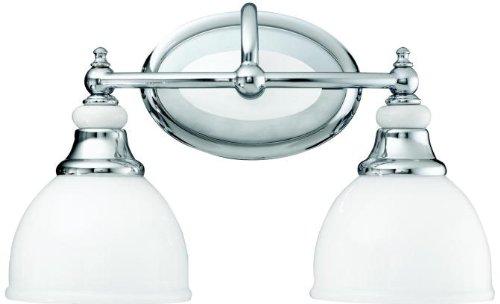 Porcelain Lighting - Kichler 5368CH Pocelona Bath 2-Light, Chrome