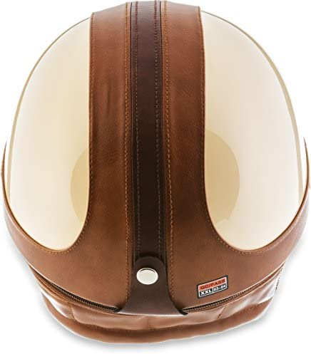 bol /Casque de moto Vespa Bobber style vintage Moto Helmets Set D22/ avec housse en plastique et lunettes de pilote incluses
