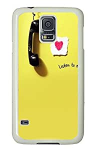 Samsung Galaxy S5 Listen PC Custom Samsung Galaxy S5 Case Cover White