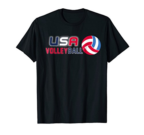 USA Flag Volleyball Mens and Womens Volleyball Shirt