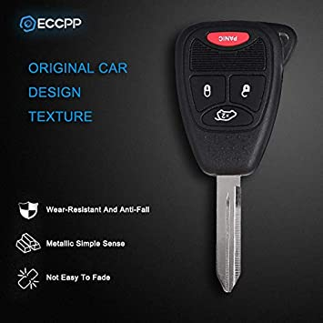 OHT692713AA ECCPP 2X New Replacement Remote Car Key Fob Combo 4-Button Uncut for Chrysler Dodge Jeep OHT692427AA