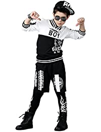 Ababalaya Boys' 2pcs Hip Hop Tracksuit with Hoodie and Pants