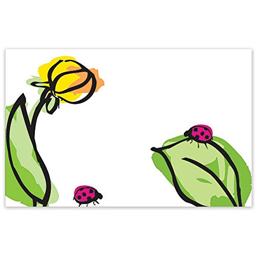 Ladybug Floral Enclosure Cards / Gift Tags - 3 1/2 x 2 1/4in. (Floral Enclosure Cards)