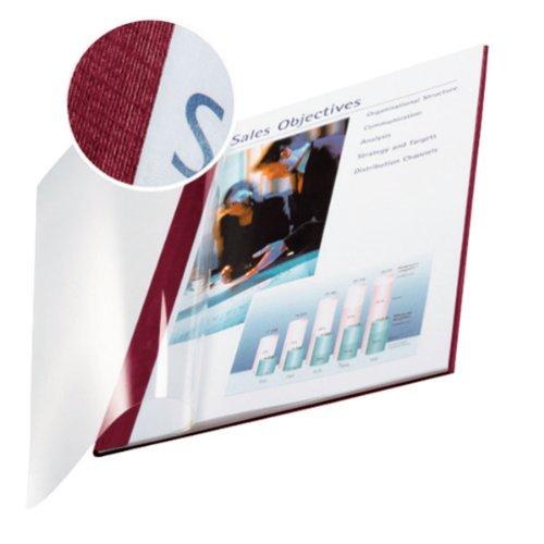 Leitz 74150028 Buchbindemappe impressBIND, Soft Cover, A4, 14 mm, 10 Stück, bordeaux 10 Stück Esselte Leitz