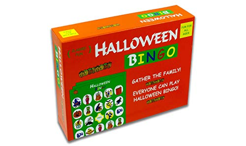 Halloween Bingo - the perfect Halloween Party Game - The Original Halloween Bingo Game with Halloween-themed pieces for a fun-filled Halloween House Party!]()