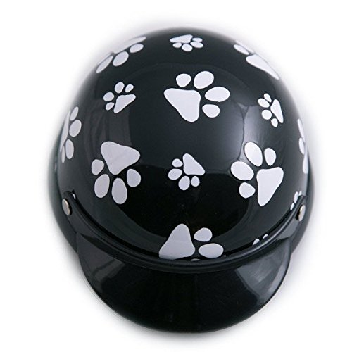 Helmet for Dogs, Cats and All Small Pets - Black Paws - Small for dogs between 5-10 lbs.