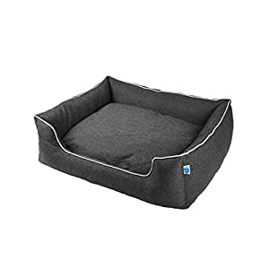 Messy Mutts Studio Bolster Dog Bed with EVERFRESH Probiotic Technology for Natural, Non-Toxic Odor Control, Small