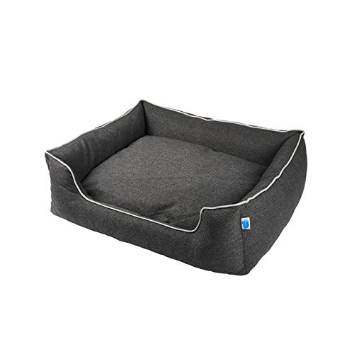 Messy Mutts Studio Bolster Dog Bed with EVERFRESH Probiotic Technology for Natural, Non-Toxic Odor Control