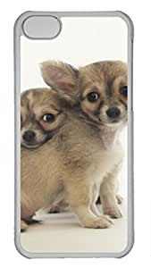 iCustomonline Long Haired Chihuahuas Protective Back Hard PC Transparent Case Cover for iPhone 5C