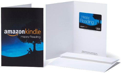 Amazon.com $200 Gift Card in a Greeting Card (Amazon Kindle Design)