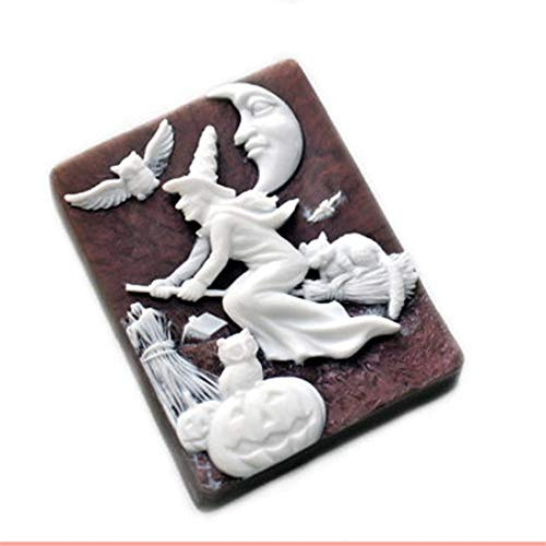 Owls Witches Broomsticks Halloween Silicone Molds Soap Mold Silicone Soap Molds Silica Gel Die Halloween Aroma Stone Moulds