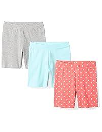Spotted Zebra Amazon Brand – Pack de 3 Pantalones Cortos para Bicicleta con diseño de Cebra para niñas y niños