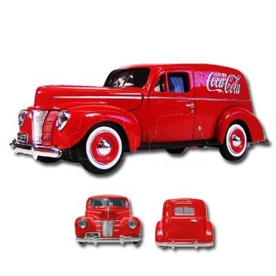 1940 Ford Panel (Motorcity Classics MCC385673 1940 Ford Panel Delivery Van Coca Cola 1/18 Diecast Car Model by Motor City Classics)
