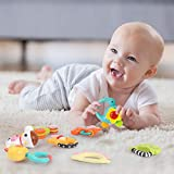 GILOBABY Baby Animal Rattle Teether, Shaker, Roll