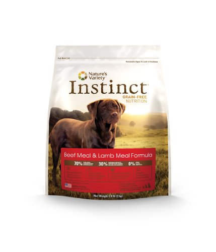 Instinct Grain-Free Beef Meal and Lamb Meal Dry Dog Food by Nature's Variety, 4.4-Pound Package, My Pet Supplies