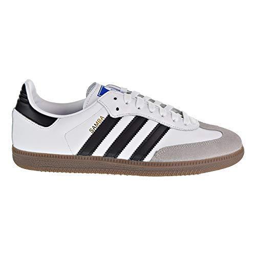 huge selection of e381e 1ac3e adidas Mens Samba OG White Black Clear Granite Size 7.5