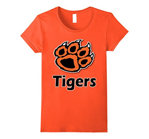 Womens Tiger Paw School Spirit Tigers T-Shirt Medium (Ladies Tiger)