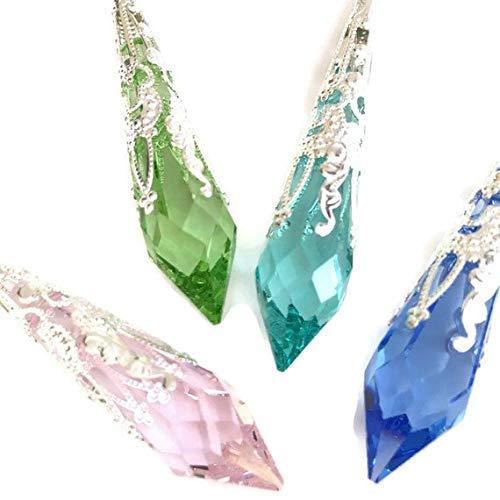 Swarovski Strass Drop Crystal Pendant Victorian Icicle Pendant Mystical