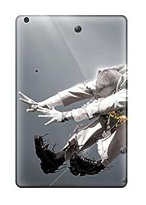Ipad Mini/mini 2 Hard Back With Bumper Silicone Gel Tpu Case Cover Creative Cgi Man