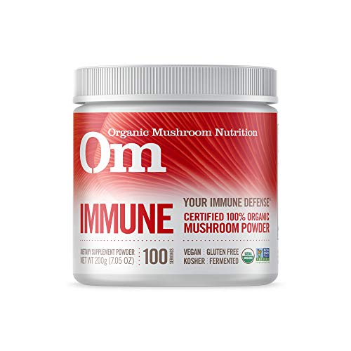 - Om Organic Mushroom Nutrition Supplement, Immune: Promotes Healthy Immune System, 100 servings, 7.14 Ounce, 200 grams