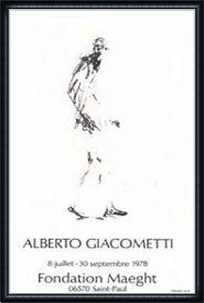 ポスター アルベルト ジャコメッティ Dessin 2 額装品 ウッドハイグレードフレーム(ネイビー) B009506OC4ネイビー