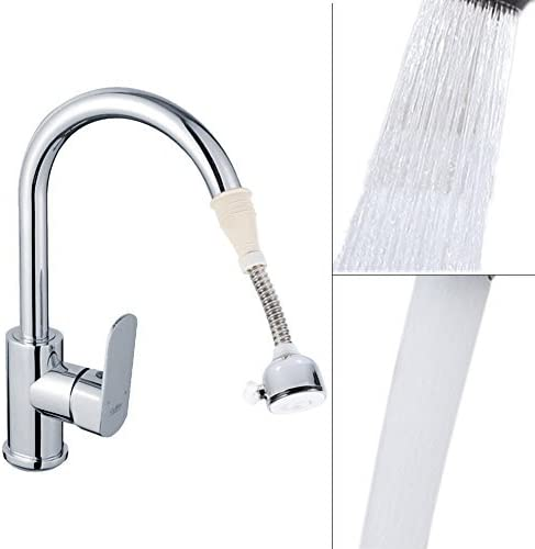 Yosoo 蛇口切替シャワー エコシャワーヘッド 流しシャワー キッチンシャワー 節水 シャワー キッチン蛇口 シャワーホース 角度調整可 360度回転 切換え 吐水口に付ける キッチン 洗面用