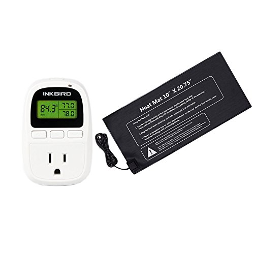 Inkbird C206 Digital Only Heat Temperature Controller 10-42°C / 50-108°F Outlet Thermostat 110V, 1100W + 10