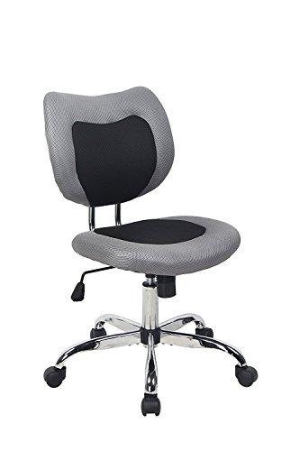 BONUM Swivel Desk Office Chair Low Back Armless Task Study Chair Adjustable Seat Height Mesh Home Chair - Black (Black) by BONUM