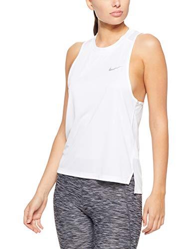 Nike Women's Miler Running Tank (White, M)