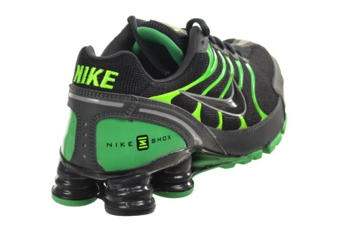 NIKE Shox Turbo VI SL Mens  Running Shoes Black Anthracite-Gamma Green- a2d1a8316