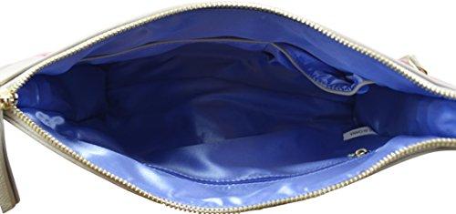 Clutch Envelope Sky Vegan Leather York Q Katie New Crossbody Grey Blue wSqBZ4AX