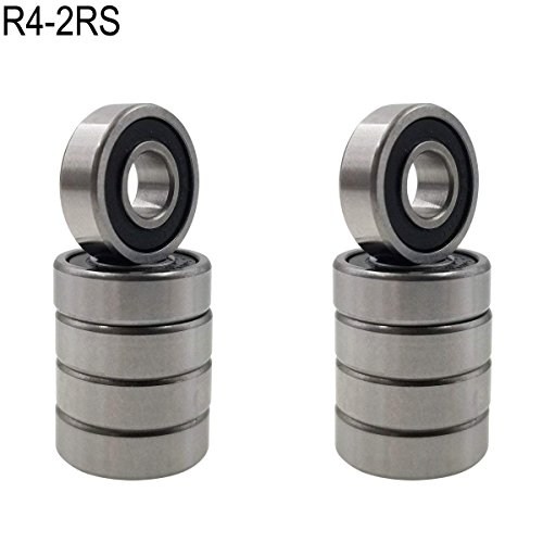 Small Bearing - Sackorange 10 PCS R4-2RS(1/4 x 5/8 x 10/51 inch) C3 Premium Sealed Radial Ball Bearing - Deep Groove Bearing - High Speeds - Suitable for Electric Motor Applications
