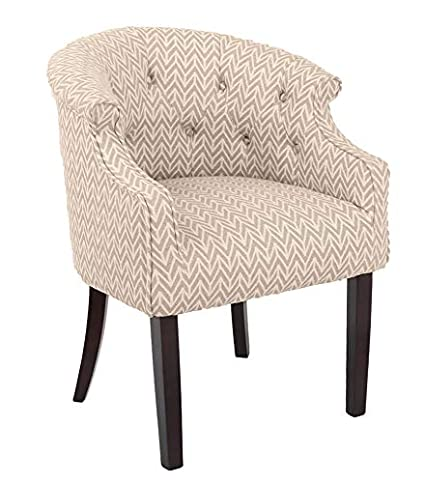 Swell Ravenna Home Hughes Curved Back Tufted Patterned Accent Chair 25W Arrow Theyellowbook Wood Chair Design Ideas Theyellowbookinfo