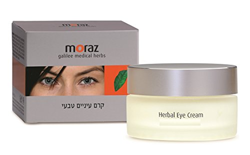 Moraz Eye Cream - Herbal eye cream based on Shea butter, Jojoba Oil, Soy Oil and Avocado Oil for treating and nourishing tender skin around eyes. Natural herbal extracts are known to increase skin elasticity and postpone appearance of wrinkles. (Herbal Eye Cream)
