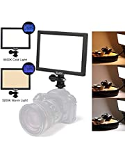 Switti Super Slim LED Video Light Dimmable Ultra High Power Panel, LCD Display Screen CRI95+ Color Temperature and Brightness Adjustable, 3200K-5600K(Power Adapter or Batteies NOT Included)