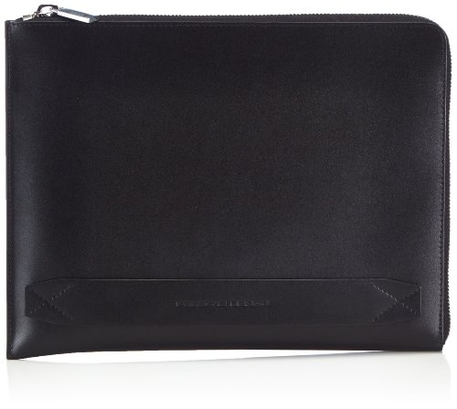 Schwarz Organizador para iPad Sleeve Design de Black Classic color 900 talla de Porsche cuero Negro hombre Z bolso 4090001322 29x22x2 negro Line cm qn0F7IR