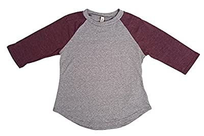 Tough Cookie's Kids' 2-7 Yrs 3 Quarter Plain Triblend Raglan T-shirts