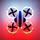 SkyCo New Desing UFO Mini Drone 532 2.4GHz RC Quadcopter Altitude Hold Neon Light Up Drones for Kids Boys Girls Toy with Extra Battery