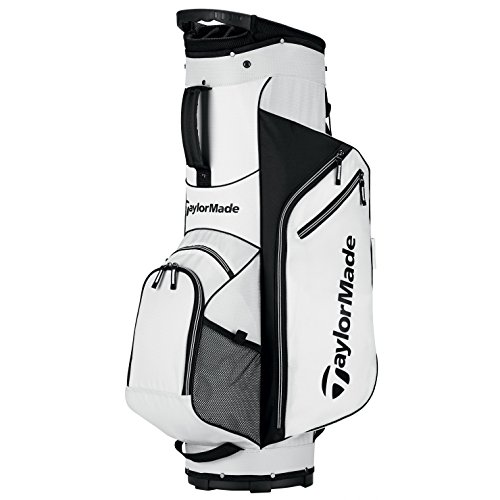 TaylorMade Golf Bag TM Cart Bag 5.0 WhtBlk, White/Black