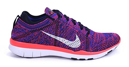 Nike Wmns Free Tr Flyknit, Zapatillas de Gimnasia para Mujer Negro (Black / White-Rcr Bl-Brght Crmsn)