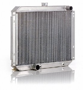 "Be Cool 35010 Qualifier Natural Finish Radiator with Dual 1"" ..."