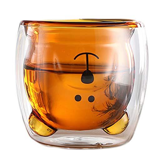 超可爱的小熊玻璃杯