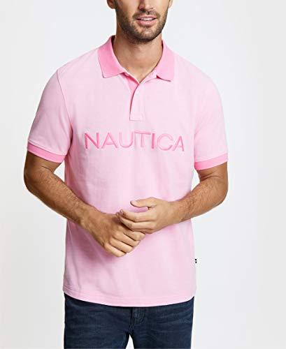 - Nautica Men's Short Sleeve Cotton Pique Oxford Polo Shirt, Carnation Large