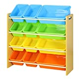 Baby Toy Car Storage Rack Large Capacity Plastic Multi-Layer Finishing Box (Color : Bright Color Box, Size : 90 * 26.5 * 86cm)